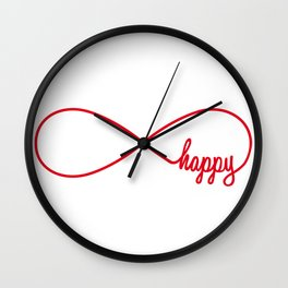 Happy forever Wall Clock