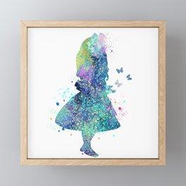 Watercolor Slatter Alice In Wonderland Framed Mini Art Print