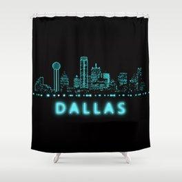 Digital Cityscape: Dallas, Texas Shower Curtain