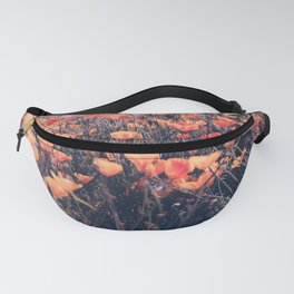 blooming yellow poppy flower field in California, USA Fanny Pack