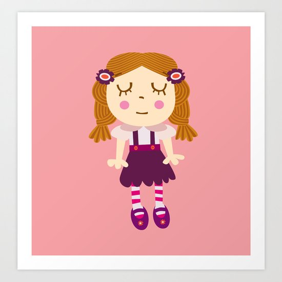 sleep doll Art Print