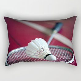 Lets' play badminton! Rectangular Pillow