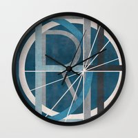 detroit Wall Clocks featuring Detroit by Katrina Berlin Design