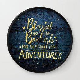 Blessed Bookish Wall Clock