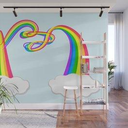 Spaghetti Rainbow Wall Mural