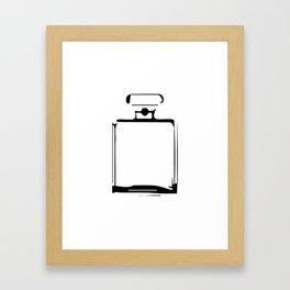 """ Nowhere Collection"" - Minimal Perfume Bottle Print Framed Art Print"
