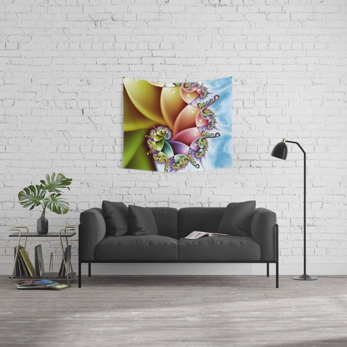Rainbow Spiral Wall Tapestry