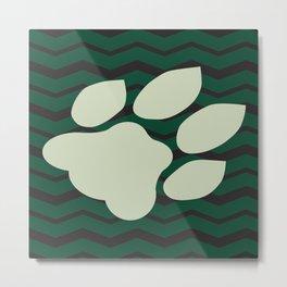 Ohio University Chevron Bobcat Paw Metal Print