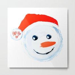 Snowman Ho Ho Ho Metal Print