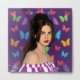 Lana and Butterflies Metal Print