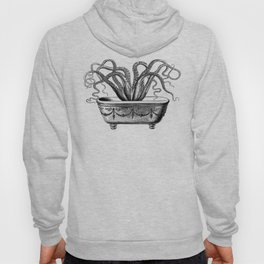 Tentacles in the Tub | Octopus | Black and White Hoody