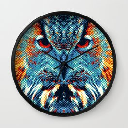 Owl - Colorful Animals Wall Clock