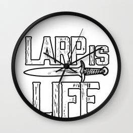 Larp Life Larping Larper Larps Roleplay Real Gift  Wall Clock