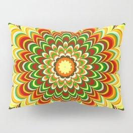 Colorful flower striped mandala Pillow Sham