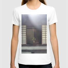 Foliage and Pottery in the Window of A Japanese House in Kyoto T-shirt