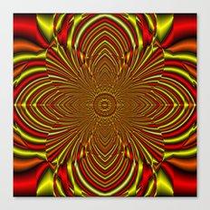 Ruby Starburst Mandala Canvas Print