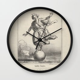 Equilibre Europeen, from Actualités, published in le Charivari, April 3, 1867,1867 Wall Clock