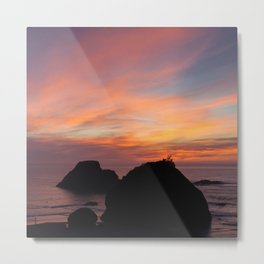 Surfers' Sunset Metal Print