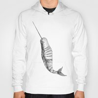 narwhal Hoodies featuring Narwhal by VOLPINE