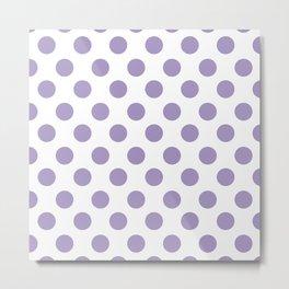 Lavender Medium Polka Dots Metal Print