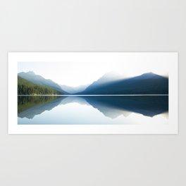 Sunrise over Glacier National Park Art Print