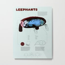 Leephants Metal Print