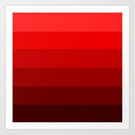 Maraschino Reds - Color Therapy Art Print