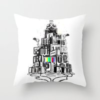 rap Throw Pillows featuring Rap God by Reducto