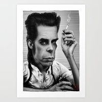 nick cave Art Prints featuring Nick Cave by AndreKoeks