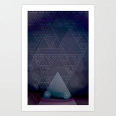 illuminate me purple Art Print