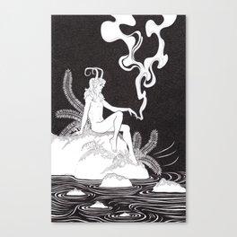 Satyr on the Rocks III Canvas Print
