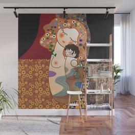 Kokeshi Mother&child Wall Mural