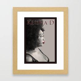 Keisha D Profile Framed Art Print