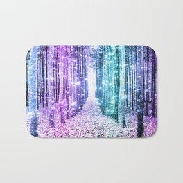 Magical Forest Lavender Aqua Teal Ombre Bath Mat