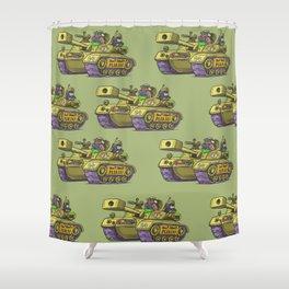 desert tank Shower Curtain