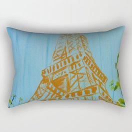 La Tour Eiffel in the Spring Rectangular Pillow