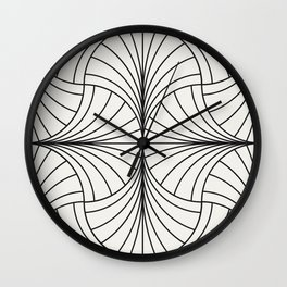 Diamond Series Inter Wave Charcoal on White Wall Clock
