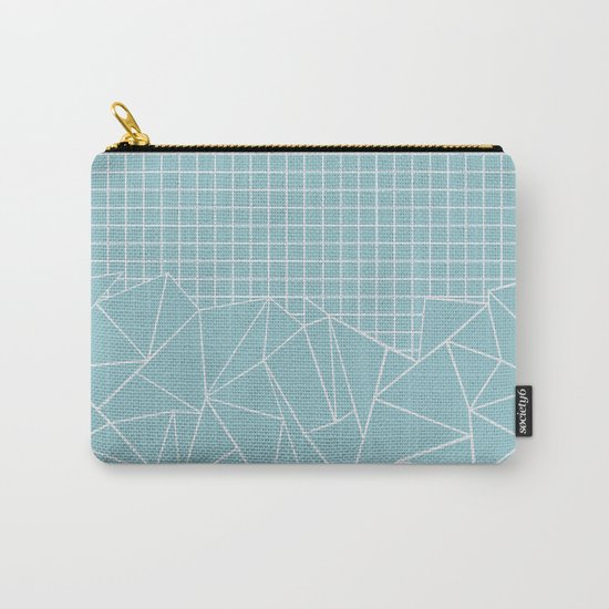 Ab Outline Grid Salty Carry-All Pouch
