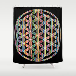 Flower of Life Colored | Kids Room | Delight Shower Curtain