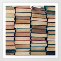 bookworm Art Prints featuring Bookworm by Laura Ruth