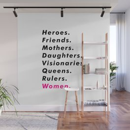 Women Power Aesthetic Wall Mural