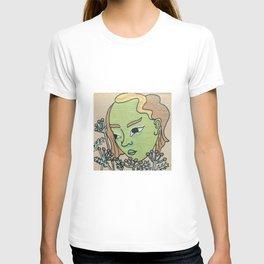 green girl number 5 T-shirt