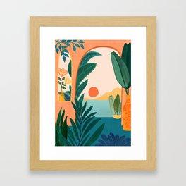 Tropical Evening Framed Art Print
