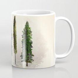 Ecru Forest Pines Coffee Mug