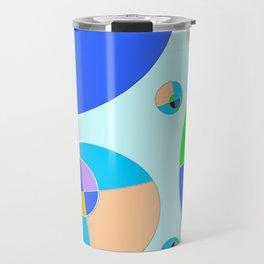Bubble blue & orange Travel Mug