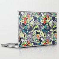 stained glass Laptop & iPad Skins featuring stained glass by kociara