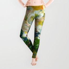 "Claude Monet ""Christmas Roses"" Leggings"