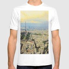 Above Paris White MEDIUM Mens Fitted Tee