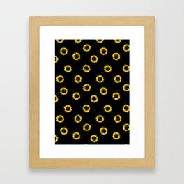 girassol black Framed Art Print