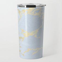 Kintsugi Ceramic Gold on Sky Blue Travel Mug